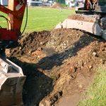 Sanierung einer mit Dioxin kontaminierten Sportanlage (Laufbahn, Weitsprunganlage, Vorplatz und Randflächen) in Tecklenburg. Presse: Westfäliche Nachrichten